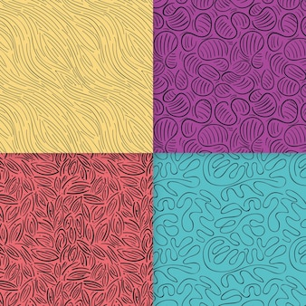 エレガントな丸みを帯びたラインパターンコレクション