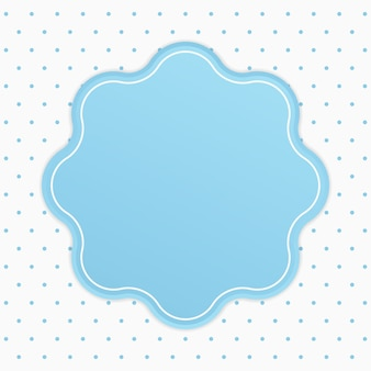 Elegant rounded text frame badge with polka dot background