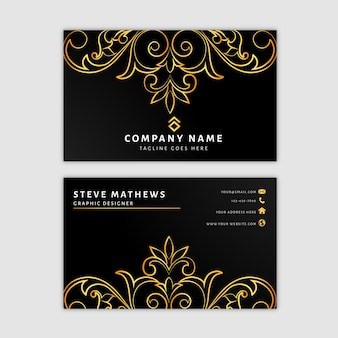 Elegant royal business card