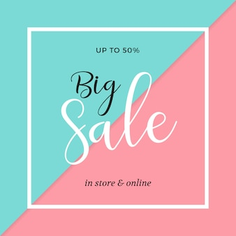Elegant sale banner template design
