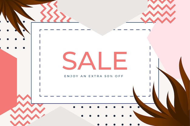 Elegant sale and discount promo backgrounds with abstract pattern