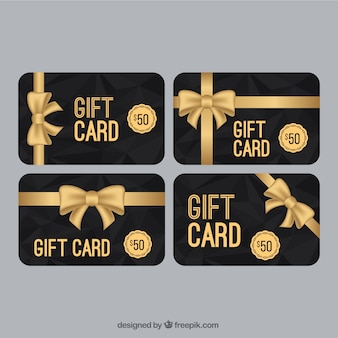 Elegant sales coupon with golden bow collection