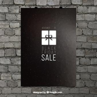 Elegant sales poster of black friday