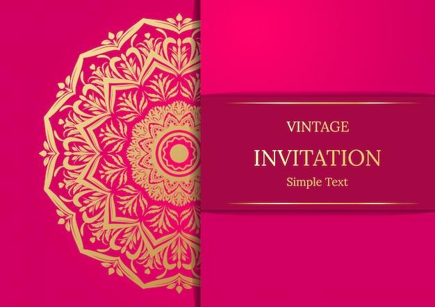 Elegant save the date card design. vintage floral invitation card