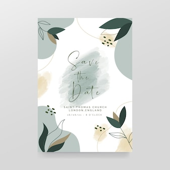 Elegant save the date  template with flowers
