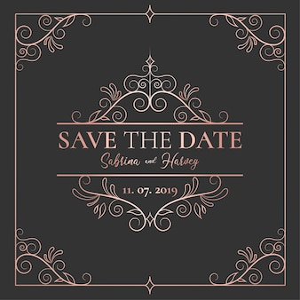 Elegant Save the Date Invitation