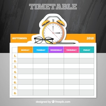 Elegant school timetable