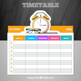 Elegant school timetable