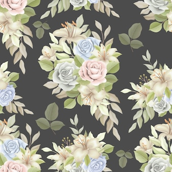 우아하고 완벽 한 꽃 패턴
