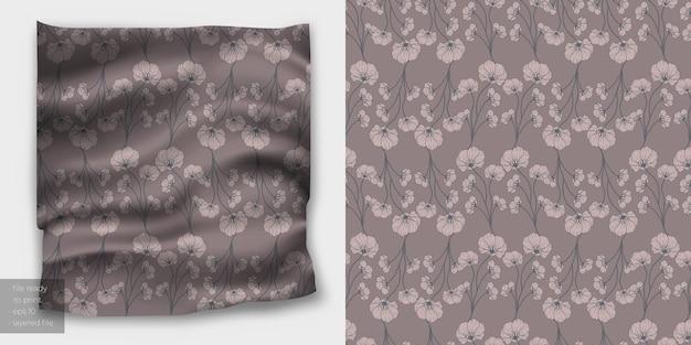 직물 인쇄를위한 우아한 이음새가없는 꽃 패턴