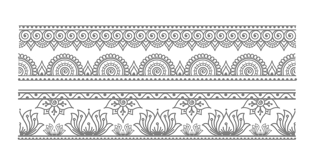 Elegant seamless mandala border illustration