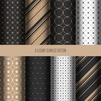 Elegant seamless pattern collection