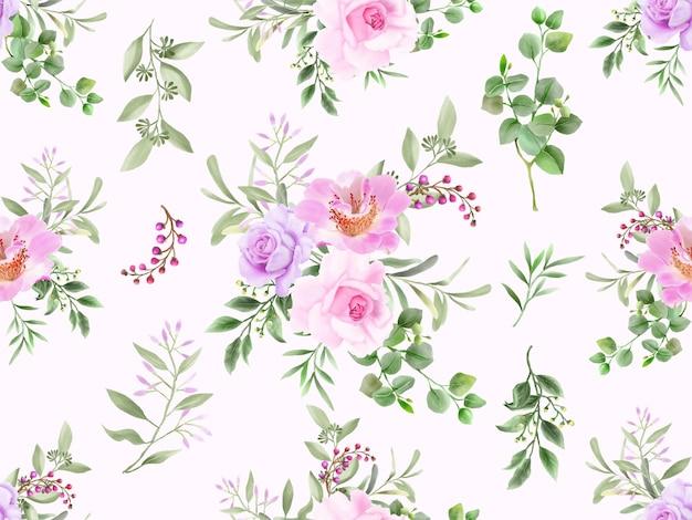 Элегантный бесшовный цветочный узор с цветочным узором