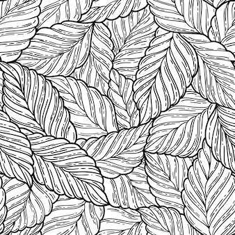 우아하고 완벽 한 패턴 잎, 벡터 일러스트 레이 션