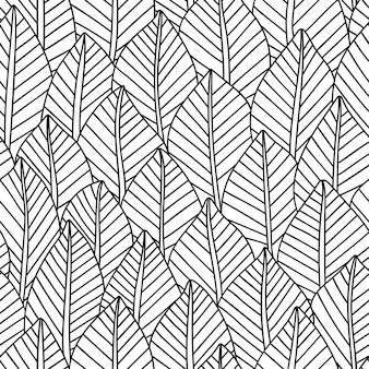 Elegant seamless pattern leaves