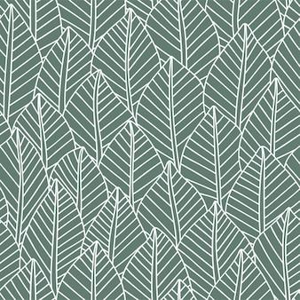 Элегантные бесшовные модели листьев