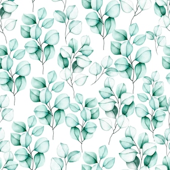 Elegant seamless pattern watercolor floral