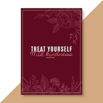 Elegant self love card template