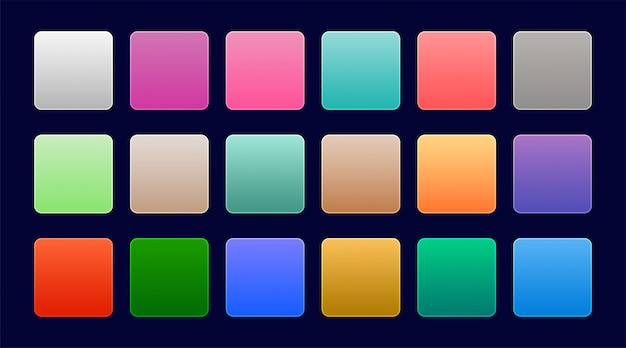 Elegant set of colorful web gradients
