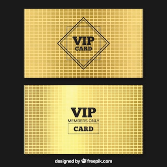 Elegant set of modern vip cards