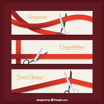 Elegant set of classic inauguration banners