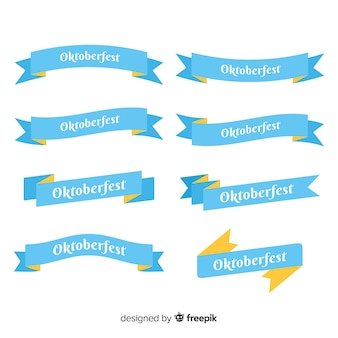 Elegant set of oktoberfest ribbons