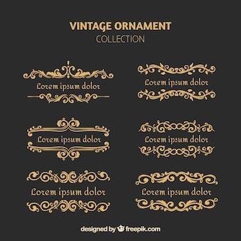 Elegant set of vintage ornaments