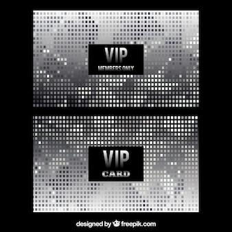 シルバーカラーのエレガントなvipカードセット