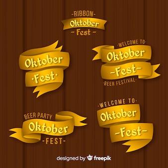 Elegant set of oktoberfest ribbons