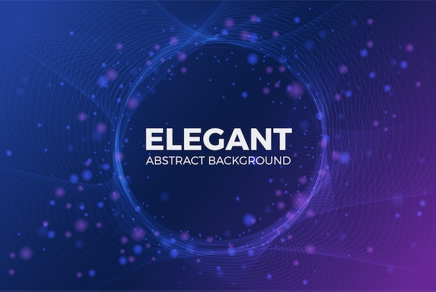 Elegant shiny particle with circle space background