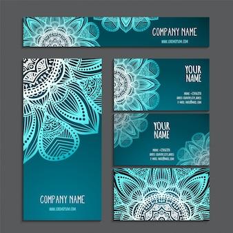 Визитная карточка винтажные декоративные элементы рисованной фон