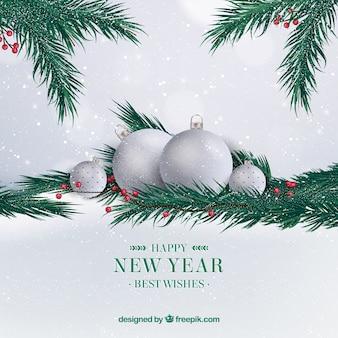 Элегантный серебряный новый 2018 год