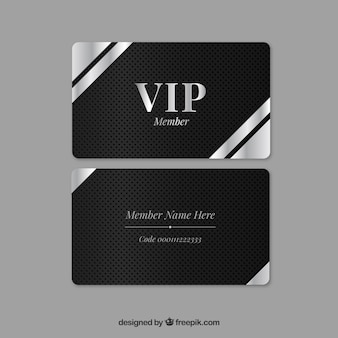 Elegant silver vip card with modern style