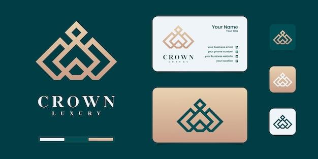 Элегантная простая корона с логотипом, символ для шаблона дизайна логотипа королевства, короля и лидера.