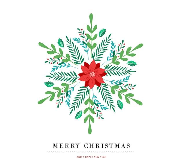우아한 눈송이 포스터, 겨울 아이콘, 메리 크리스마스 인사말 카드 서식 파일