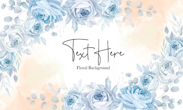 Elegant soft blue floral background design