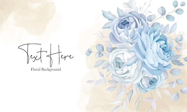 Элегантный мягкий синий цветочный дизайн фона