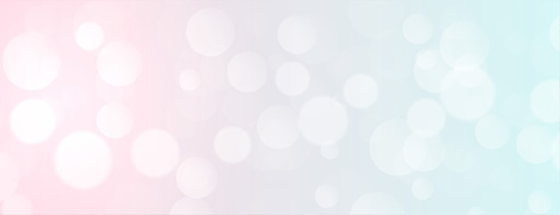 Elegant soft color bokeh banner with text space