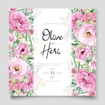 Элегантный мягкий цветочный шаблон визитной карточки