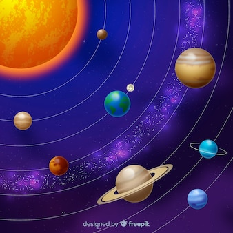 Elegant  solar system scheme with realistic design