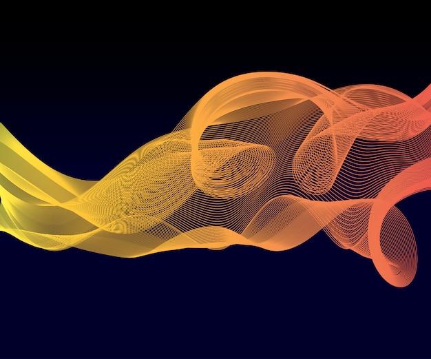 Elegant speed futuristic high-tech swoosh wave stream background