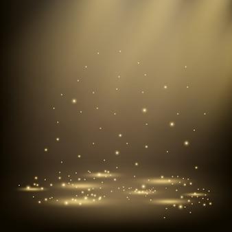Elegant spotlights shining with sparkles
