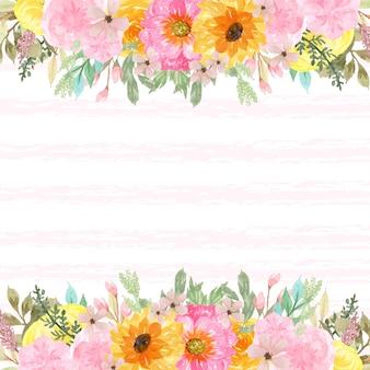エレガントな春の花のボーダー