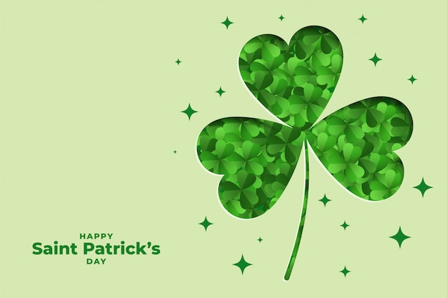 Elegant st patricks day leaf decorative background