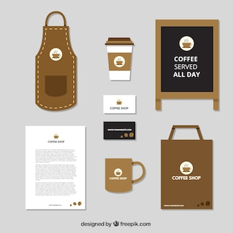 Elegant stationery for a cofee shop