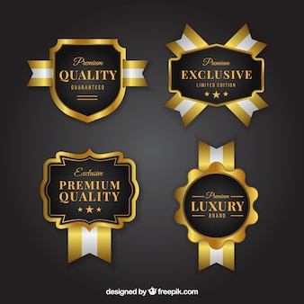Elegant stickers set of exclusive products