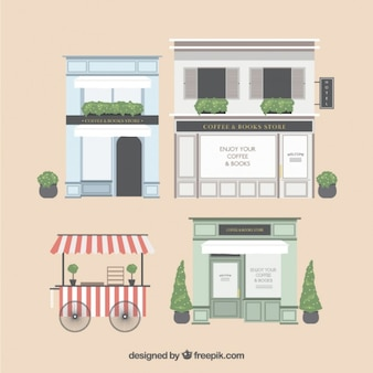 Elegant store facades