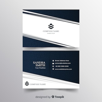 Elegant style business card template