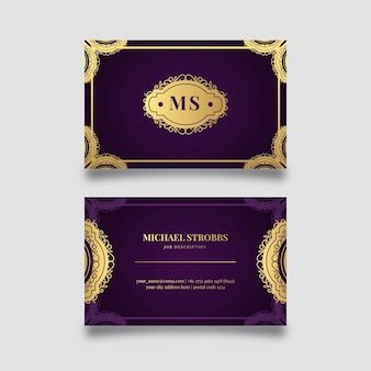 Elegant style for business card template