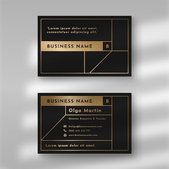 Elegant style for business card